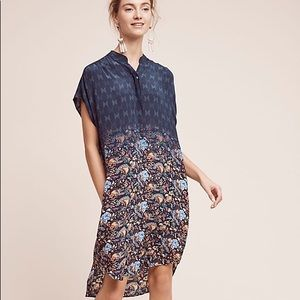 Anthropologie Tanvi Kedia Tansey Silk Tunic Dress